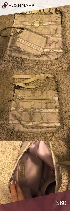 Coach Crossbody and Matching Wristlet/Wallet Coach Crossbody bag and Matching Wristlet/Wallet. Both in great condition! Authentic! Coach Bags