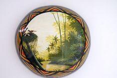 Cuias pintadas artesanalmente a mão livre. Temas de paisagens amazônicas. Produto exclusivo. Aceitamos encomendas para venda em atacado.