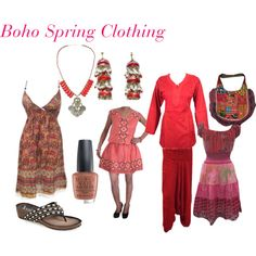 Boho Spring Clothing by mogulinteriordesigns on Polyvore featuring J. Reneé and OPI