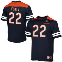 662b50f3 Mens Chicago Bears Matt Forte Majestic Navy Blue Hashmark II T-Shirt New  England Patriots
