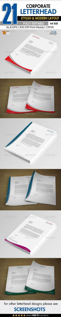 Corporate Letterhead Letterhead design, Letterhead template and - corporate letterhead template