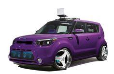 Purple and blue custom kia soul