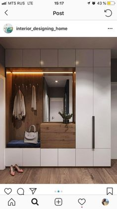 Garderobe Two-tone mudroom or closet cabinets How Fire-Safe Is Your School? Home Entrance Decor, House Entrance, Entryway Decor, Home Decor, Entryway Ideas, Entrance Halls, Hallway Ideas, Hallway Decorating, Bedroom Decor