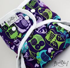 Owls in Love Cloth Diaper Cover Cloth Diaper Covers, Cloth Diapers, Baby Tips, Baby Hacks, Owl Clothes, Insulated Lunch Bags, Diapering, Swim Cover, Baby Sewing