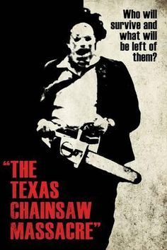 Texas Chainsaw Massacre - Leatherface Silhouette American Horror Film Movie Home Theater Poster Wall Art Print Affiliate