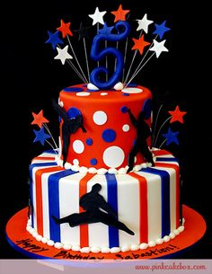 Karate Themed Birthday Cake by Pink Cake Box in Denville, NJ.  More photos and videos at http://blog.pinkcakebox.com/karate-themed-birthday-cake-2010-11-23.htm