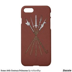 Some 16th Century Polearms iPhone 8/7 Case.  40% Off with code ZFALLGIFTS50.  Offer is valid through September 27, 2017, 11:59 PM PT.  #Zazzle #IPhone_case #phone_case #case #polearms #staff_weapons #16th_century_polearms #halberd #ahlspiess #langdebeve_partisan #military_fork #bill