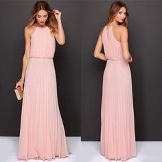 Cheap dress up girls party, Buy Quality dresses promotion directly from China dress to wear to a winter wedding Suppliers: Sexy Women Dinner Party Halter Pleated Floor Length Long Dress M3AO &n