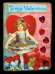 retro valentine ATC, or artist trading card