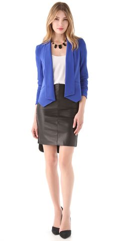 #Leather Pencil Skirt  But i would add a printed top