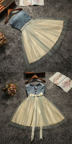 Cute gray short prom dress, cute homecoming dress, cocktail dress
