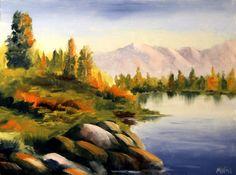 """Mark Webster - Untitled Landscape Oil Painting 62411 by Mark Webster Oil ~ 6"""" x 8"""""""