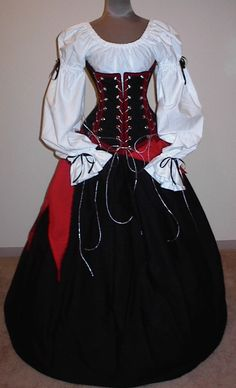 $224.99 Pirate Queen - renaissance clothing, medieval, costume