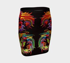 """Fitted+Skirt+""""FRIEDRICH+BLACK""""+by+ART+OF+THE+MYSTIC+OTTO+RAPP Fall Skirts, Fitted Skirt, Printed Skirts, Artwork Prints, Knitted Fabric, Mystic, My Design, Knitting, My Style"""