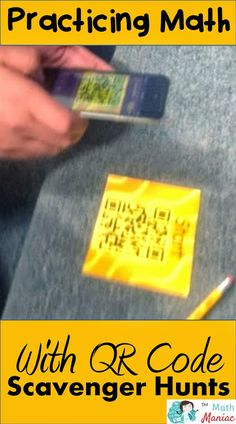 "The Elementary Math Maniac: QR Code Scavenger Hunts: Using Technology to Practice Math ""My favorite places to do QR code scavenger hunts are in the gym or outside on the track."""