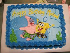 spongebob cake | Birthday Cake Center: Spongebob and Patrick