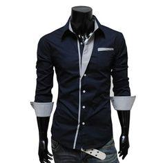 Navy hot mens formal shirt