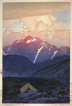 Tsurigizan, Morning  by Hiroshi Yoshida, 1926