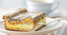 Tvarohový koláč s mandarínkami a makom - dôkladná príprava krok za krokom. Recept patrí medzi tie najobľúbenejšie. Celý postup nájdete na online kuchárke RECEPTY.sk. Czech Recipes, Ethnic Recipes, Pavlova, Tiramisu, French Toast, Food Porn, Goodies, Food And Drink, Cooking Recipes