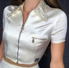 Vintage Versace Jeans Couture zip up crop. Great vintage condition, some. - Sold by Textiles Y Moda, Retro, Cute Outfits With Jeans, Vintage Versace, Versace Jeans Couture, Oui Oui, High Fashion, Womens Fashion, Gianni Versace