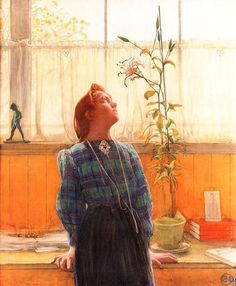 Lisbeth and the lily Carl Larsson.
