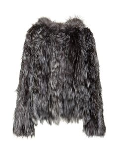 SCOOP Knit Fox Fur Hooded Jacket - Don our genuine fox fur jacket. We designed it with a full hood and a hook and eye closure at the front. The hem hits at the waist but the glamour goes on without end. Exclusively from Scoop NYC.