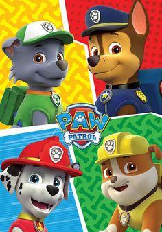 Manta Patrulla Canina. Patrol Team 100 x 150 cm Mata polar fabricada en 100% poliéster con medida de 100x150cm basada en la serie de tv Patrulla Canina.
