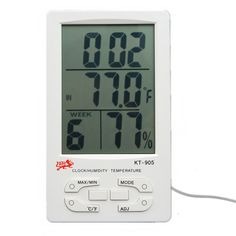 LCD Display Indoor Outdoor Digital Temperature Thermometer Humidity Hygrometer