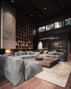 Modern House Design, Modern Interior Design, Interior Design Inspiration, Interior Architecture, Interior Ideas, Design Ideas, Loft Design, Luxury Interior, Design Interiors