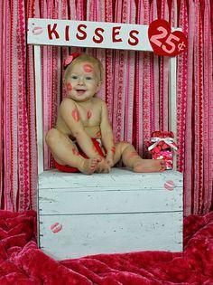 Paislee's 11 month photo. Valentine photo.