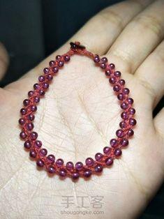 红绳之珠链♛原创 第9步 Beaded Bracelets, Jewelry, Fashion, Moda, Jewlery, Bijoux, Fashion Styles, Pearl Bracelets, Schmuck