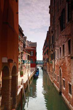 Venice canal street print, Fine Art Photography, narrow street Venice, Canals of Venice, romantic Venice architecture, 8 x 12''