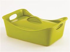 Stoneware Rectangular Covered Casserole (3.5-qt.): Green by Rachael Ray at Food Network Store
