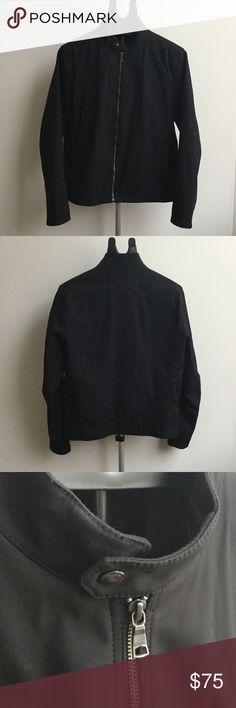 Banana Republic Lightweight Jacket Shell: 60% nylon 40% cotton  Lining: 100% polyester;  color - black;  lightly worn Banana Republic Jackets & Coats Lightweight & Shirt Jackets