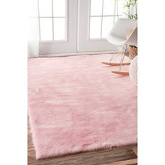 nuLOOM Cozy Soft and Plush Faux Sheepskin Shag Kids Nursery Pink Rug x - 18016372 - Overstock - Great Deals on Nuloom - Rugs - Mobile Pink Room, Rugs Usa, Living At Home, Living Room, My New Room, Rug Making, Girls Bedroom, Bedroom Ideas, Bedrooms