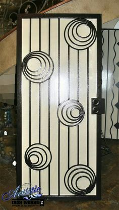 Photo of Artistic Iron Works - Las Vegas, NV, United States. Mesmerizing New Design by one of our finest artist - Fabian Guilbert, Wrought Iron Security Screen Door Wrought Iron Security Doors, Wrought Iron Doors, Steel Art, Window Grill Design, Iron Gate Design, Door Handle Design, Metal Art, Iron Security Doors, Doors