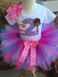 So Affordable Doc McStuffins and Lambie Birthday Tutu Outfit Dress Set Handmade Girl Birthday Themes, Birthday Party Outfits, Birthday Tutu, Princess Birthday, 2nd Birthday Parties, Birthday Decorations, Birthday Ideas, Birthday Cakes, Princess Tutu