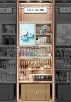 Makeup Display, Cosmetic Display, Cosmetic Shop, Cosmetic Design, Shelf Design, Display Design, Cosmetics Display Stand, Modern Store, Visual Merchandising Displays
