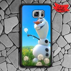 Olaf Playing Flower Dandelion Samsung Galaxy S6 Edge Plus Black Case