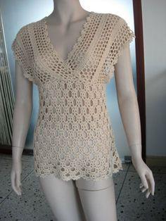 blusa heart crochet pinterest - Pesquisa Google