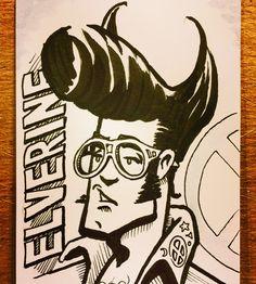 Elverine has left the building - Denver Comic Con 2016 sketch by Steve Oatney…