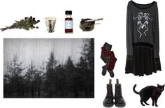 """shades"" by nightgaunts ❤ liked on Polyvore"
