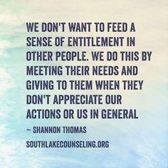 Entitlement.