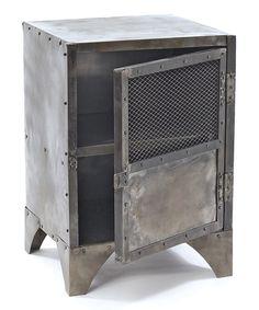 Steel Storage locker ..Use as a bedside table/nightstand Cute for a little boys room!