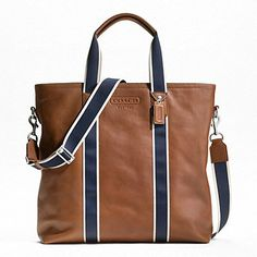 Coach Heritage Web Leather Utility Tote - WANT! <3
