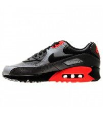 brand new 4e642 f20b0 Air Max 90 Leather Black Total Crimson Trainer Outlet