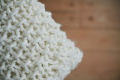 This blanket is great because it's a very quick knit with the super chunky yarn and big needles.