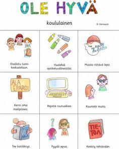 Tutustumistehtävät - Värinautit Learn Finnish, Finnish Language, Beginning Of The School Year, Early Childhood Education, Teaching, Comics, Peda, Early Education, Education