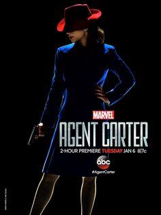 La mini-série débarque sur ABC, le 6 janvier 2015 avec un double épisode. Pour fêter ça, Marvel nous offre le premier poster officiel d'Agent Carter.