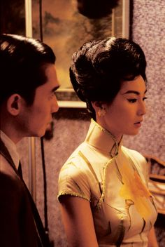 """Tony Leung & Maggie Cheung in """"In the mood for love"""" <3. I love this movie. <3"""